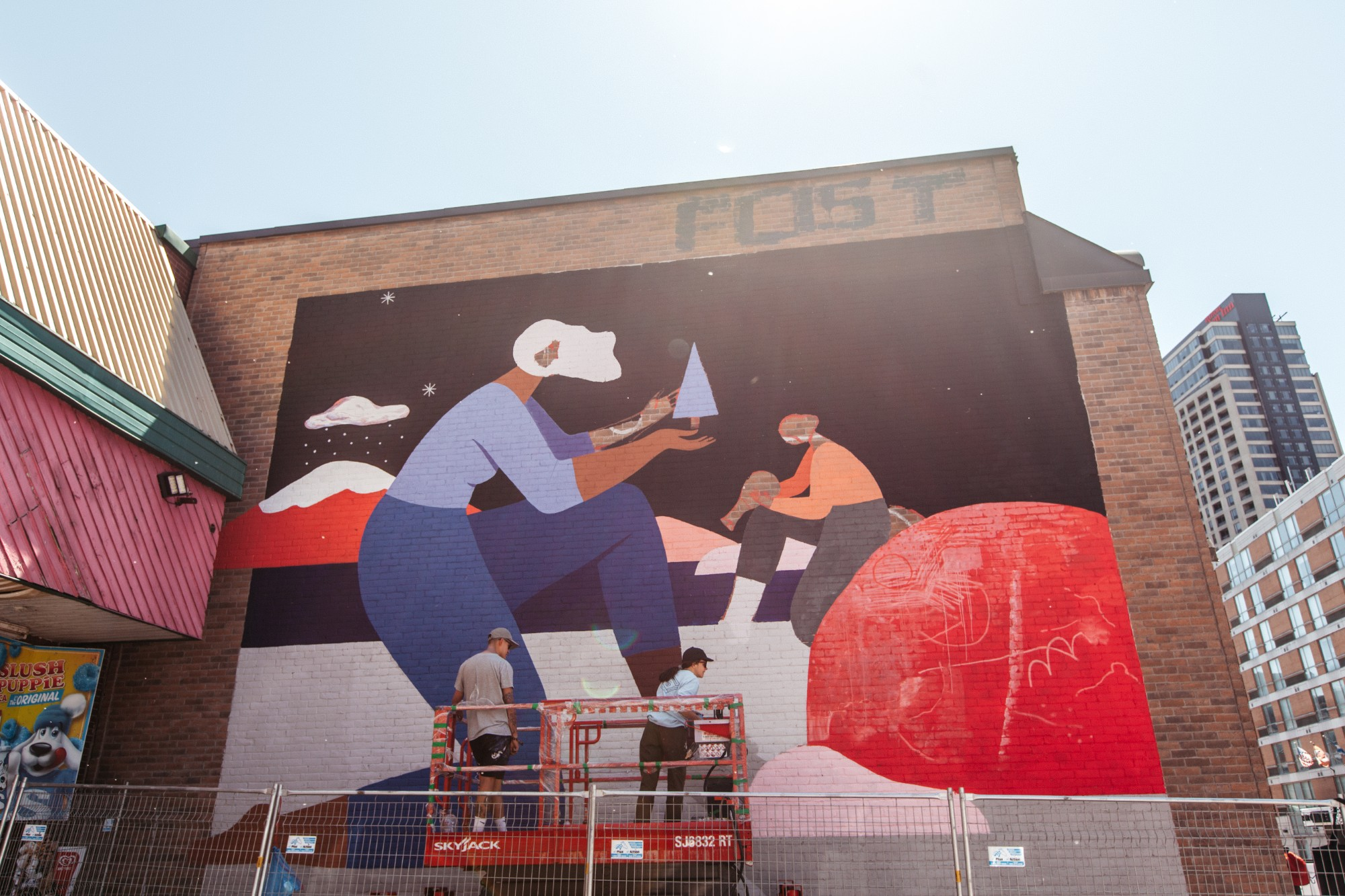 Cyrielle Tremblay at the MURAL Festival